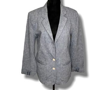 CARTONNIER for Anthropologie Linen/Cotton Blazer